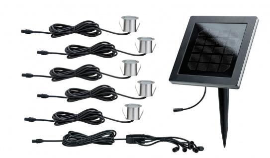 Paulmann Special Solarmodul Set MiniSol Boden Einbauleuchte IP67 5x0, 2W 12V Schwarz Edelstahl/Kunststoff