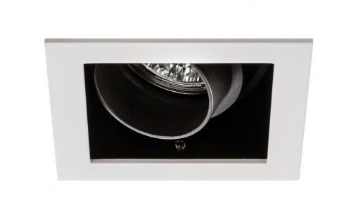 Paulmann Premium Einbauleuchte Daz eckig schwenkbar 1x5W LED Modul 230V Weiß m./Schwarz 926.82.1.LED - Vorschau 2