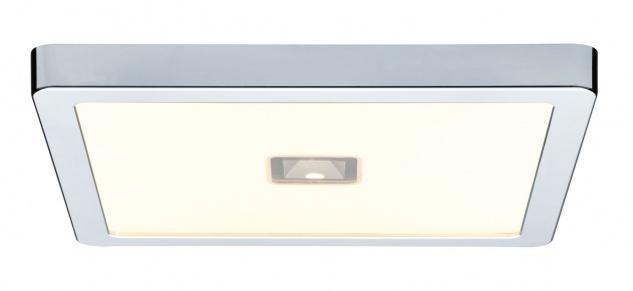 Paulmann 706.91 WallCeiling Beam LED-Panel IP44 300x300mm 13, 5W+2W 230V Chrom/Kunststoff