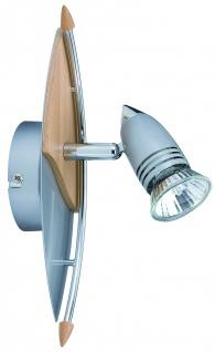 Paulmann 662.11 Spotlights Hilke Balken 1x50W GU10 Alu/Holz 230V Metall/Holz