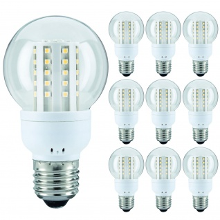 10 x 28103.10 Paulmann E27 Fassung LED AGL 2, 8W Klar 3000K 200lm