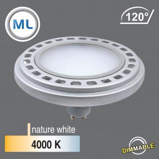 MILI Qpar111 LED Leuchtmittel 12W GU10 4000K neutralweiß 230V 900lm Silber 120° Abstrahlwinkel Raumlicht dimmbar - ersetzt 90W Halogen - Vorschau 2