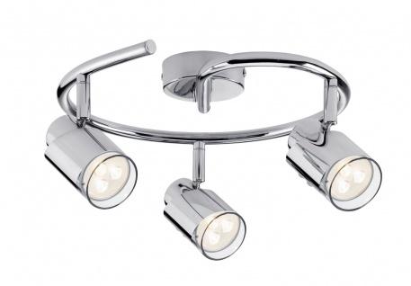 Paulmann 601.80 Spotlight Futura LED Twister 3x3, 5W GU10 Chrom 230V Metall