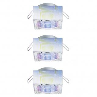 Paulmann 2Easy Premium Einbauleuchte 3er Spot-Set Cristal starr 51mm Dichroic/Glas