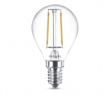 Philips 8718696517611 E14 LED Filament Leuchtmittel 2, 3W ~ 25W WW Warm Tropfen