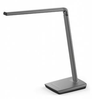 Hi Lite Table&Desk Slice LED Schreibtischleuchte dimmbar mit 1, 8m Anschlusskabel und USB Ladefunktion 10W Metall 230/12V