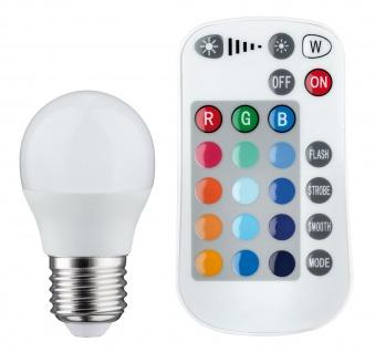 Paulmann 285.18 LED Tropfen Farbwechsel 3, 5W E27 230V mit Fernbedienung