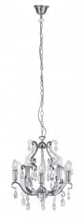 15039-17 Leuchten Direkt Pendelleuchte E14 230V max. 5x40W chom/Kristall