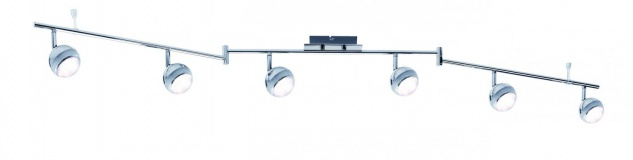 Spotlight Scoop LED 6x4, 6W Chrom 230V Kunststoff