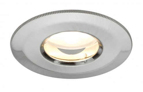 Paulmann 928.48 Premium Einbauleuchte Set IP65 Coin dimmbar satiniert starr LED 1x7W 230V 51mm Eisen gebürstet/ Alu Zink