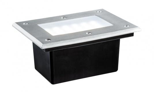Paulmann 937.97 Special Einbauleuchte Set Boden IP67 LED 2, 5W 6500K 230V 185x136mm Edelstahl/Metall