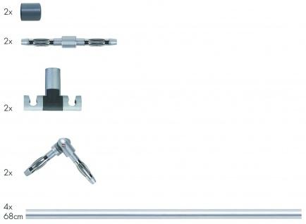 972.82 Paulmann 12V Rail Set Rail System Light&Easy Stange gerade 4x680mm max.300W Chrom matt 12V Metall