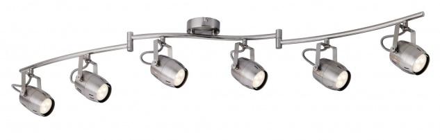 Paulmann 602.89 Spotlight Gamma LED 6x3, 5W GU10 230V Nickel gebürstet Metall