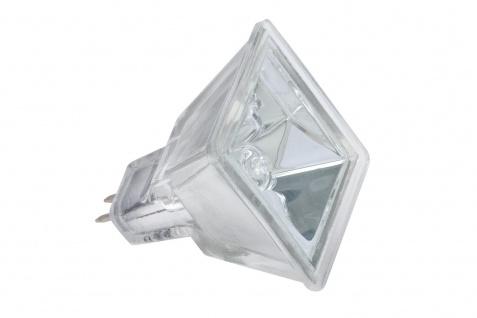 833.46 Paulmann 12V Fassung Halogen Reflektor Quadro mit Schutzglas flood 60° 35W GU5, 3 12V 37mm Silber