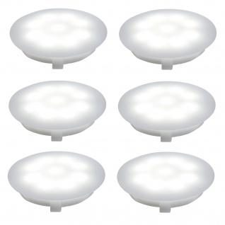 Paulmann 987.58 Special Einbauleuchte Set UpDownlight LED 6x1W 230/12V 45mm Satin/Kunststoff