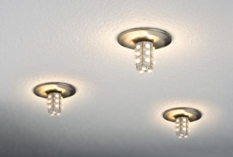 Paulmann 925.45 Star Einbauleuchte Set rund LED 5x1W 7VA 230/12V G4 40mm Eisen gebürstet/Metall