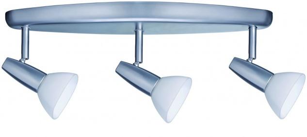 664.03 Paulmann Deckenleuchten Spotlights Barelli Balken 3x40W GZ10 Chrom matt/Opal 230V Metall/Glas