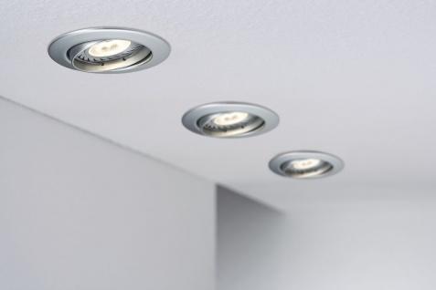 Paulmann Premium Einbauleuchte Set schwenkbar LED 3x3, 5W 2700K 230V GU10 51mm Chrom matt/Alu Zink - Vorschau 3