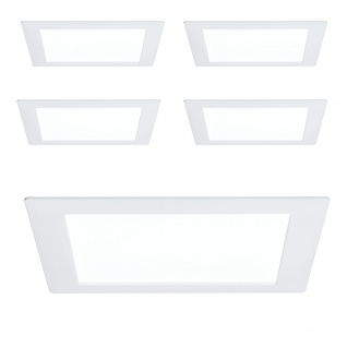 5er Set 926.13.5 Paulmann Eibauleuchten Premium EBL Panel eckig LED 1x8W 6500K 8VA 230V/350mA 210mm Weiß m/Alu
