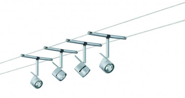 972.07 Paulmann Seil Komplett Set Wire System MiniPower 150 4x35W GU4 Chrom matt 230/12V 150VA Metall