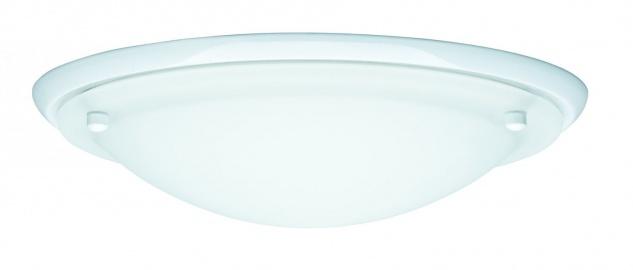 Paulmann 703.43 WallCeiling Arctus IP44 max.60W E27 275mm Weiß/Opak 230V Metall/Glas