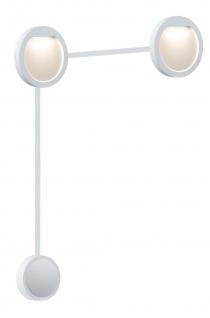 Paulmann 938.22 Special Einbauleuchte Set Flow LED 2x2, 3W 230/12V 160mm Weiß matt/Kunststoff