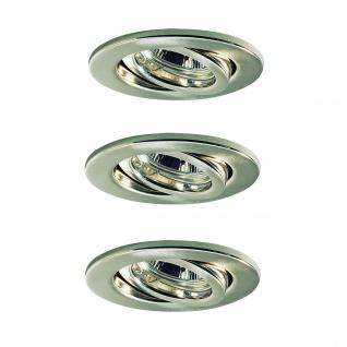 Nice Price Basic Einbauleuchte Set schwenkbar 3x50W 230V GU10 51mm Eisen gebürstet/Metall