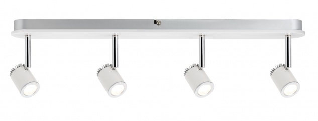 Paulmann 602.32 Spotlight Tremolo Balken 4x3W Weiß matt 230V Metall