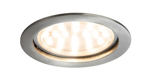 Paulmann Premium Einbauleuchte Set Coin klar rund starr LED 1x14W 2700K 230V 75mm Eisen gebürstet/Alu Zink