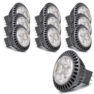 10x LG LED Leuchtmittel GU5, 3 MR16 warmweiss 4W M0427U35N5B