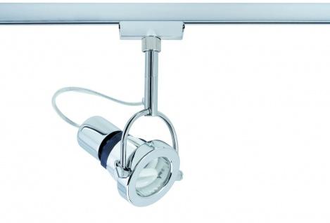 Paulmann 968.81 URail Schienensystem Light&Easy Spot Ring Energiesparlampe 1x11W GU10 Chrom 230V Metall