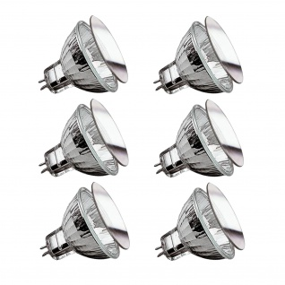 6 x 82231 Security Halogen Reflektor mit Schutzglas 20W GU5, 3 12V BAB