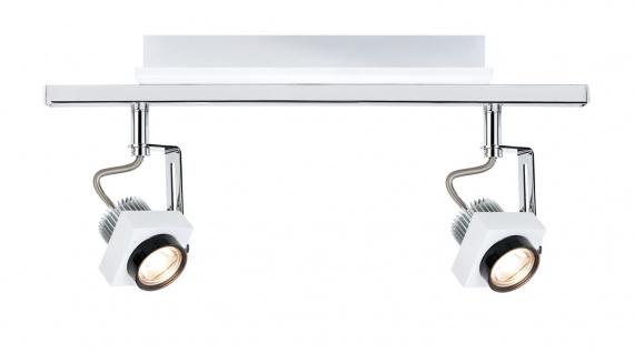 Paulmann 602.61 Spotlight Phase Stange 2x5W Weiß Chrom 230V Metall