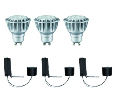 927.95 Paulmann Einbauleuchten 2Easy EBL Basis-Set dimb. LED 3x8W 2700K 230V GU10 51mm