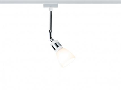 Paulmann 953.08 URail Schienensystem LED Spot Titurel II 1x2, 2W G9 Weiß/Chrom 230V Metall/Glas