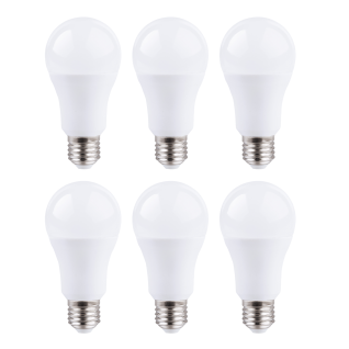 MILI 6er Set LED Leuchtmittel 15W E27 5000K Tageslicht 230V 1520lm Weiß satiniert