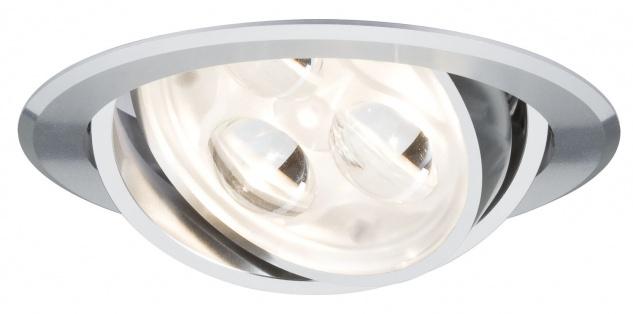 Paulmann Möbel Einbauleuchte Set drilled Alu LED schwenkbar 1x3W 3VA 230V/350mA 83mm Alu gedreht - Vorschau 2