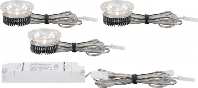 925.02 Paulmann Einbauleuchten 2Easy EBL Basis-Set power LED 3x3, 52W 9VA 51mm