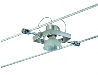 Wire System Light&Easy Spot Mac II 1x35W GU5, 3 Nickel satiniert 12V Metall