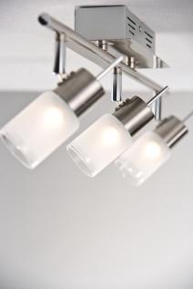 Spotlights ZyLed Balken 3x3W Eisen gebürstet 230V/12V Metall/Glas - Vorschau 3