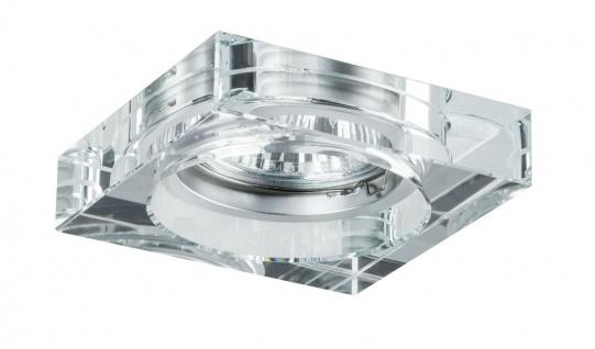 Paulmann 999.13 Premium Einbauleuchte Cristal Quadro max 3x35W 230V GU10 Klar/Glas
