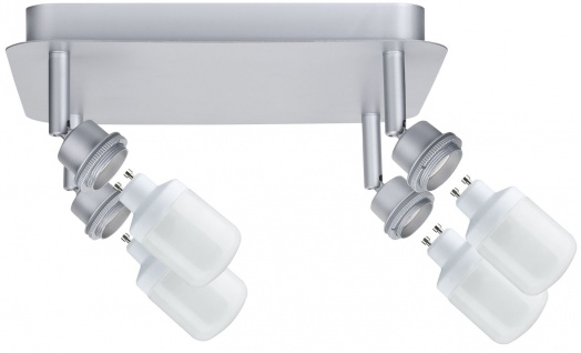 Paulmann 600.24 Spotlights DecoSystems Rondell 4x9W GZ10 Chrom matt 230V Metall