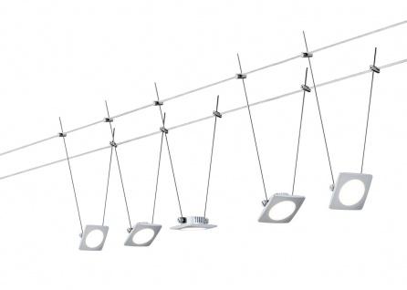 Paulmann Wire Systems DC Set QuadLED 5x4W Chrom matt 230V/12V DC 30VA Metall