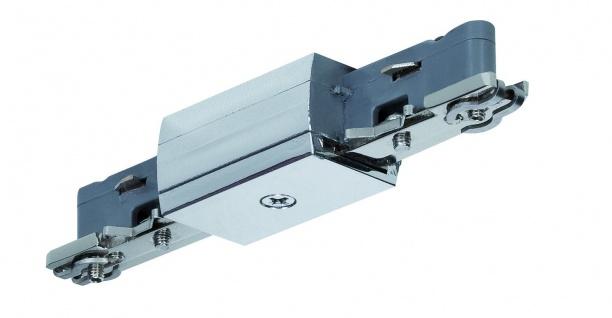 968.69 Paulmann U-Rail Einzelteile URail System Light&Easy Linien Verbinder Chrom 230V Metall