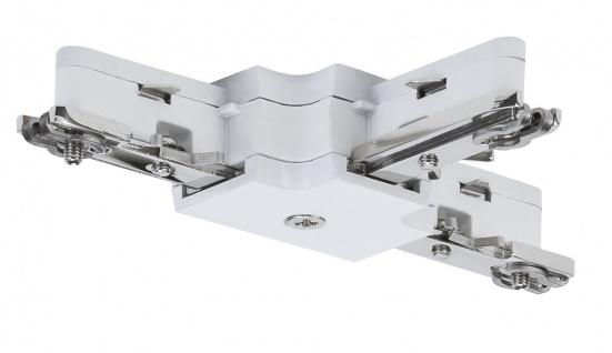 Paulmann URail Schienensystem Light&Easy T-Verbinder 125mm max.1000W Weiß 230V Metall/Kunstoff