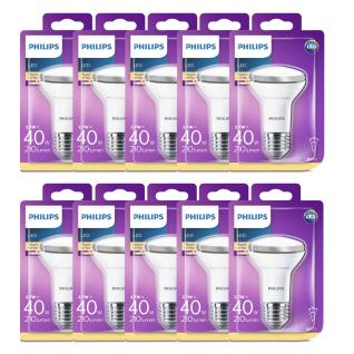 10x 8718696578551 LED Reflektor mit Drehsockel, 2, 7 W (40 W), E27, warmweiß