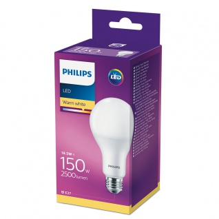 E27, Philips, LED Leuchtmittel, 2500Lumen, 8718696813799 19, 5W (150W), warmweiß