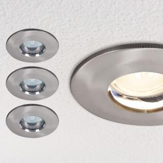 Paulmann 994.61 Premium Einbauleuchte Set LED starr IP65 3x4W 230/12V GU5, 3 51mm Eisen gebürstet