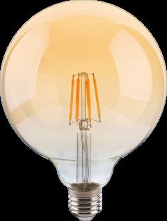 8W E27 Globe Ø125mm LED Leuchtmittel Gold Warmweiß 2400 Kelvin 800 Lumen