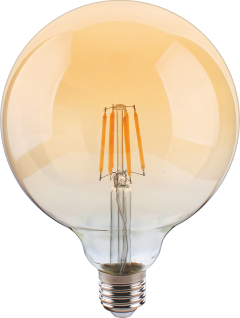 MILI LED Leuchtmittel dimmbar - Ø125mm Warmweiß 230V 800lm Gold Retro Vintage, Ideal für Dekorative Beleuchtung mit Antike Nostalgie Stil 270° Raumlicht8W E27 2400K